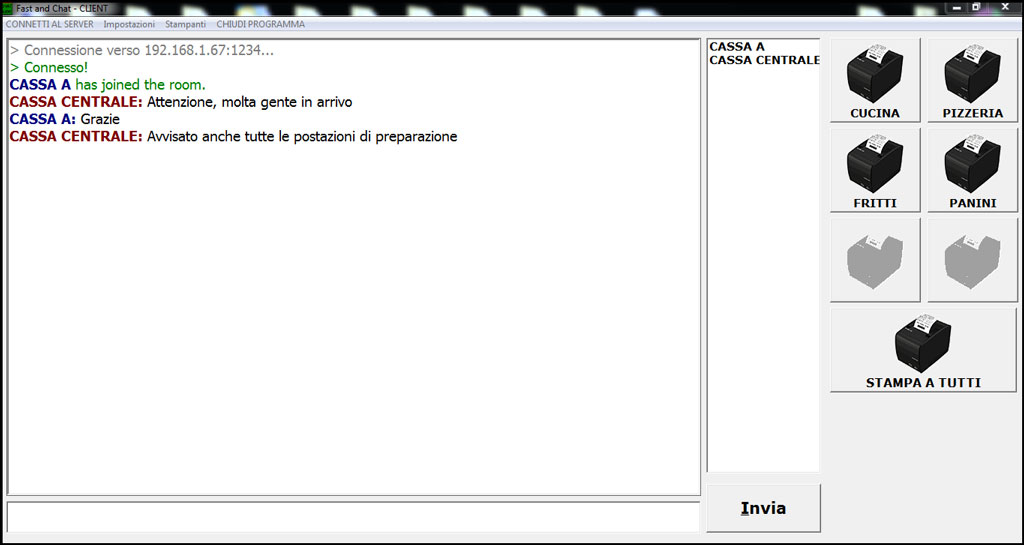 Fast and chat interfaccia